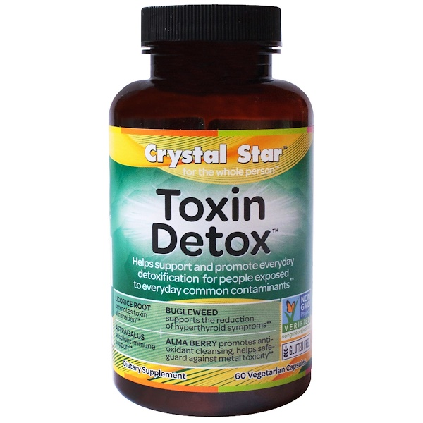 Crystal Star, Toxin Detox, 60 Veggie Caps (Discontinued Item)