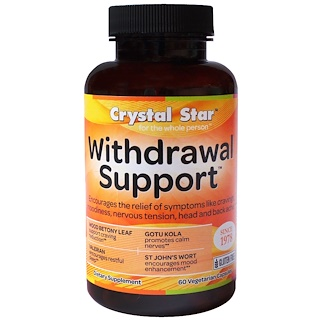 Crystal Star, Withdrawal Support, 60 Veggie Caps