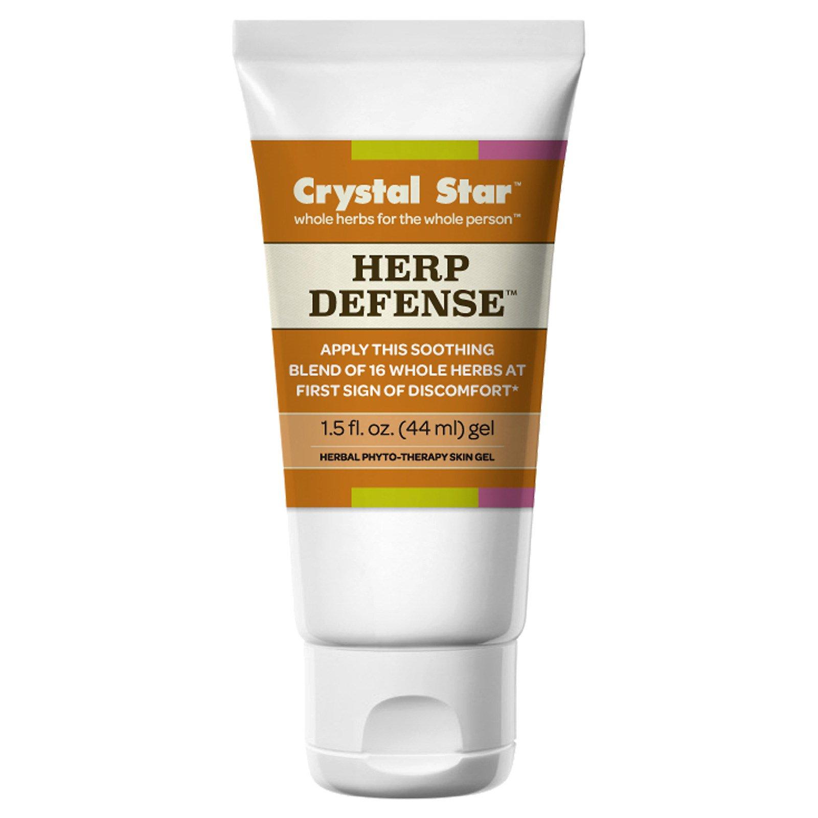 Crystal Star, Гель для защиты от герпеса, 1,5 жидкие унции (44 мл)