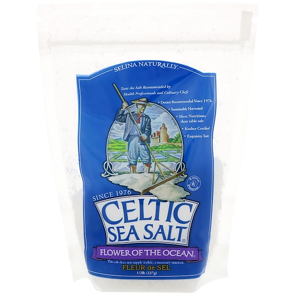 Celtic Sea Salt, Flower of The Ocean, 1/2 lb (227 g) (Discontinued Item)
