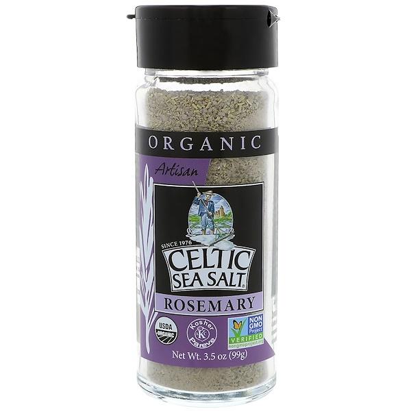 Celtic Sea Salt, Organic, Artisan, Rosemary, 3、5 oz (99 g)