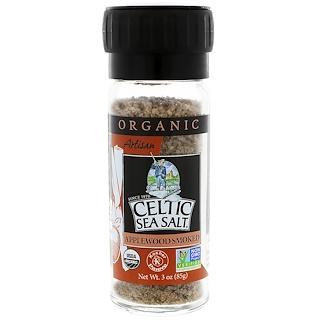 Celtic Sea Salt, Organic, Artisan, Applewood Smoked Salt, 3 oz (85 g)