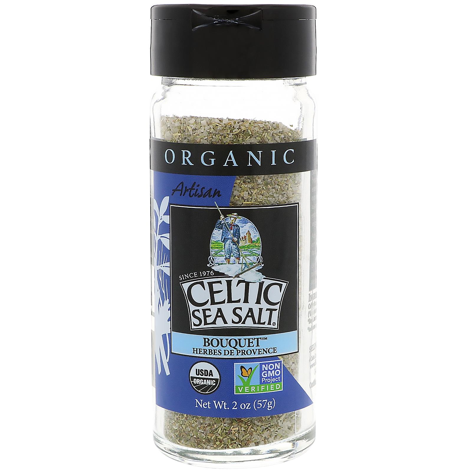 Celtic Sea Salt, Organic, Artisan, Bouquet Herbes De