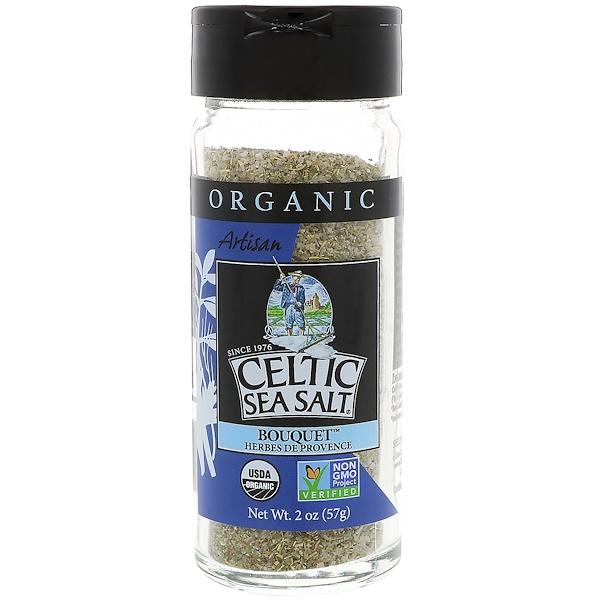 Celtic Sea Salt, Organic, Artisan, Bouquet Herbes De Provence, 2 oz (57 g) (Discontinued Item)
