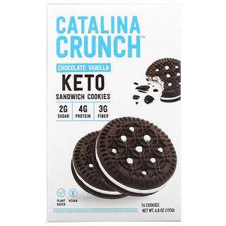 Catalina Crunch, Keto Sandwich Cookies, Chocolate Vanilla,  16 Cookies, 6.8 oz (193 g)