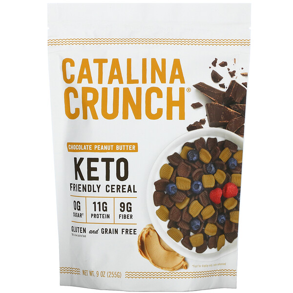 Catalina Crunch, Keto Friendly Cereal, Chocolate Peanut Butter, 9 oz (255 g)