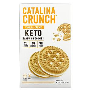 Catalina Crunch, Keto Sandwich Cookies, Vanilla Creme, 16 Cookies, 6.8 oz (193 g)