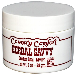 Country Comfort, Herbal Savvy, Golden Seal-Myrrh, 1 oz (28 g)