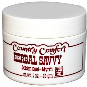 Кантри Комфорт, Herbal Savvy, Golden Seal-Myrrh, 1 oz (28 g) отзывы