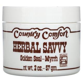 Country Comfort, Herbal Savvy, Golden Seal-Myrrh, 2 oz (57 g)