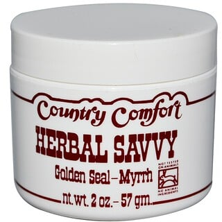 Country Comfort, Pomada Herbal Savvy, Sello de Oro - Mirra, 2 oz (57 g)