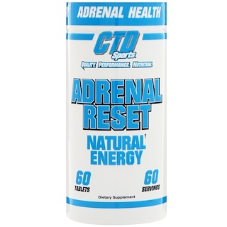 CTD Sports, Adrenal Reset, 60 Tablets
