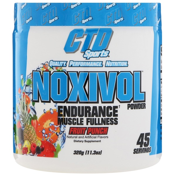 CTD Sports, Noxivol Powder, Fruit Punch, 11.3 oz (320 g)