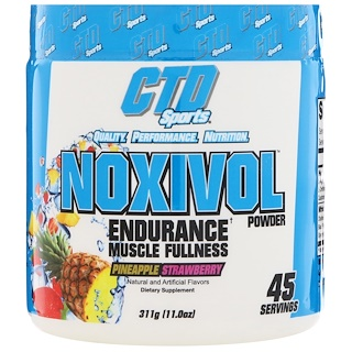 CTD Sports, Noxivol Powder, Pineapple Strawberry, 11.0 oz (311 g)