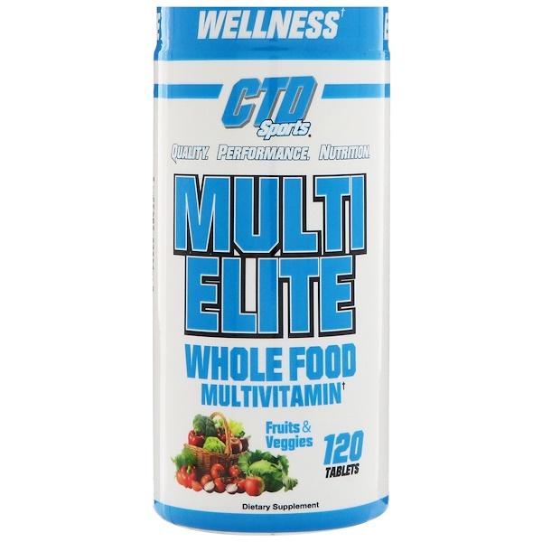 CTD Sports, Мультивитамины Multi Elite, 120 таблеток (Discontinued Item)