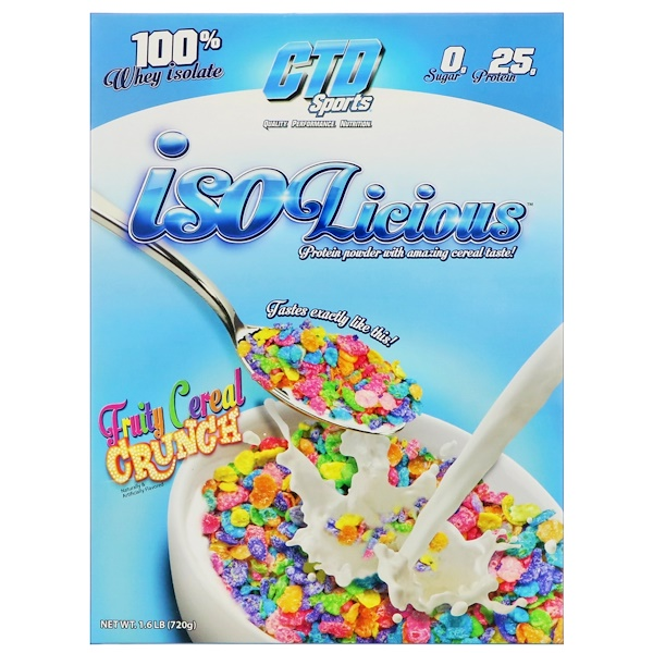 CTD Sports, Isolicious 蛋白粉,水果脆穀物口味,1、6 磅(720 克)