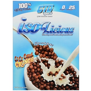 CTD Sports, Isolicious Protein Powder, Coco Cereal Crunch, 1.6 lb (744 g)