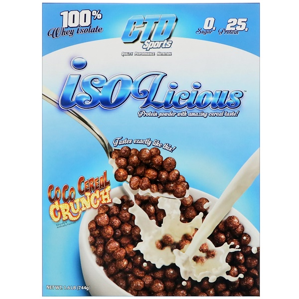 CTD Sports, Isolicious Protein Powder, Coco Cereal Crunch, 1.6 lb (744 g) (Discontinued Item)
