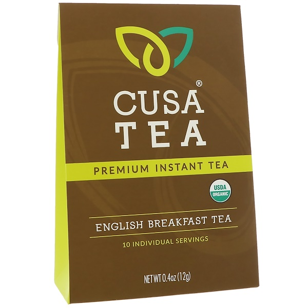 Cusa Tea, Органический английский чай для завтрака, 10 индивидуальных порций, 0,04 унц. (1,2 г) каждый (Discontinued Item)