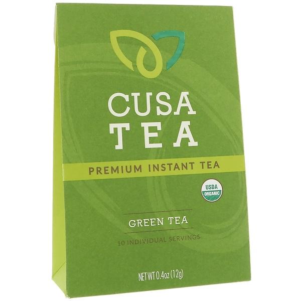 Cusa Tea, Органический продукт, Зеленый чай, 10 отдельных порций, 0,04 унц. (1,2 г) в каждом
