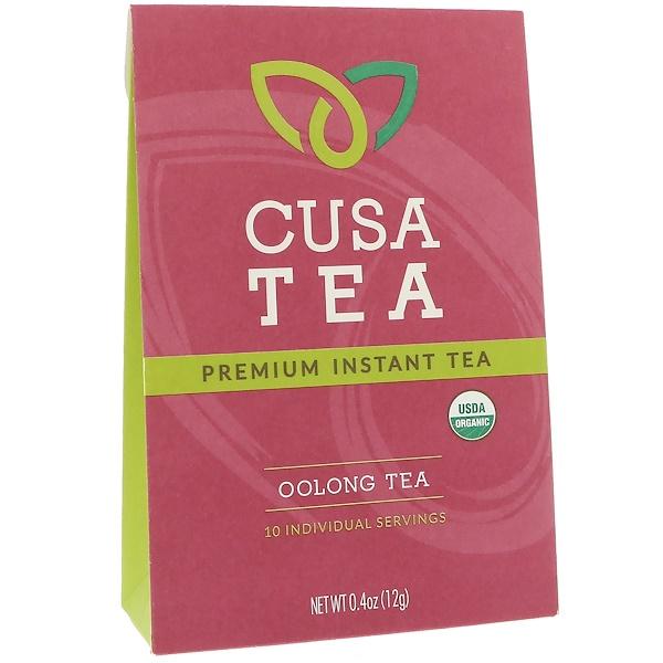 Cusa Tea, Органический продукт, Чай улун, 10 индивидуальных порций, 0,04 унц. (1,2 г) в каждом (Discontinued Item)