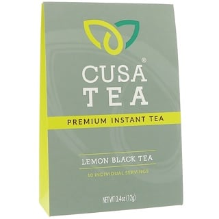 Cusa Tea, Lemon Black Tea, 10 Individual Servings, 0.04 oz (1.2 g) Each