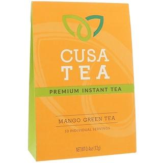 Cusa Tea, Mango Green Tea, 10 Individual Servings, 0.4 oz (1.2 g) Each
