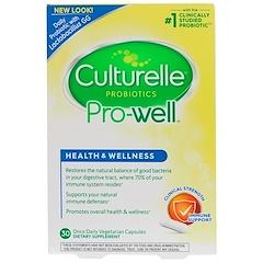 Culturelle, ヘルス&ウェルネス、免疫サポート、ベジタリアンカプセル1日分が30個