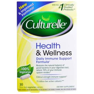 Culturelle, Health & Wellness、Daily Immune Support Formula、 30ベジタリアンカプセル