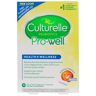 Culturelle, Health & Wellness, поддержка иммунитета, 30 вегетарианских капсул для приема один раз в день