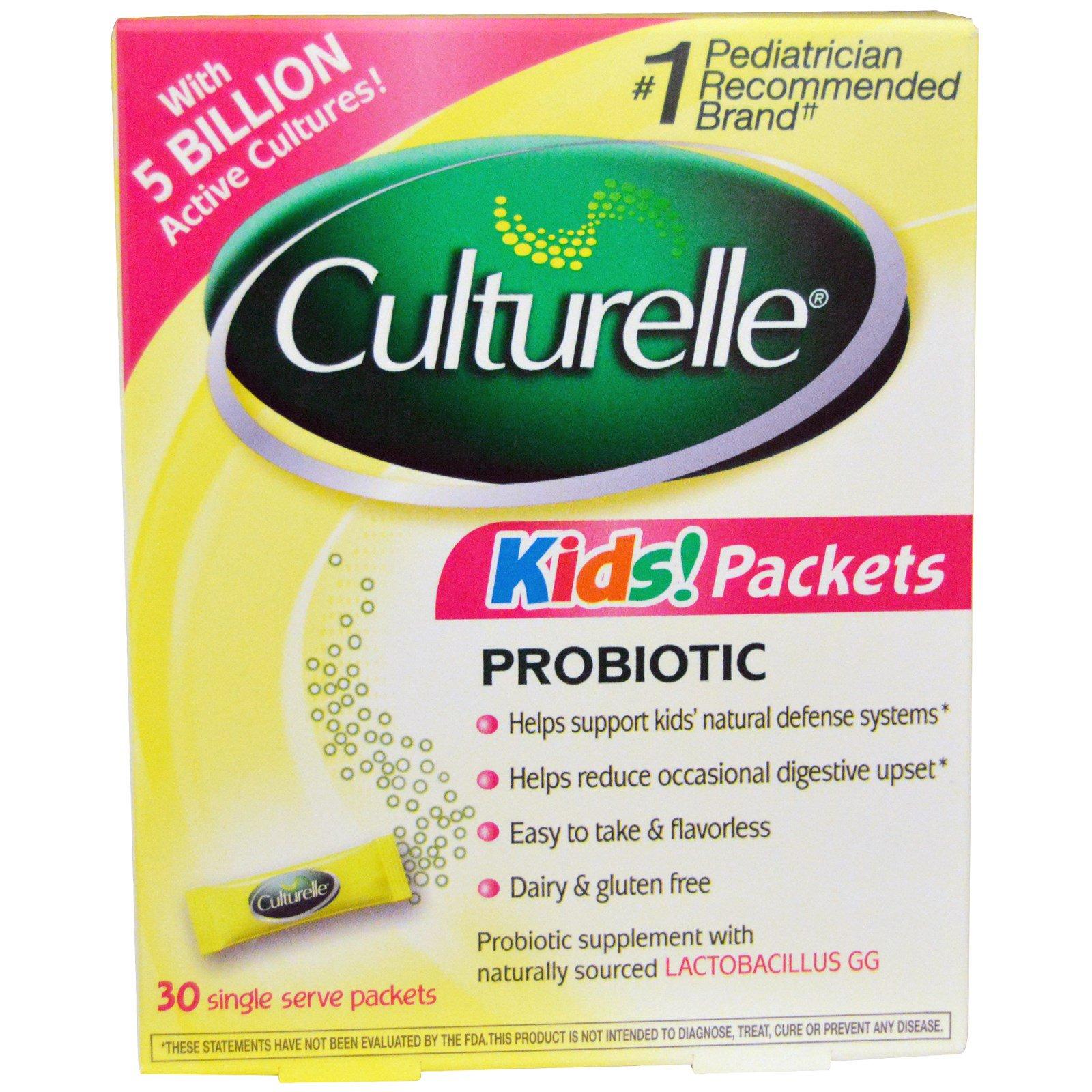 Culturelle, Kid's Packets, пробиотик, 30 порционных пакетиков