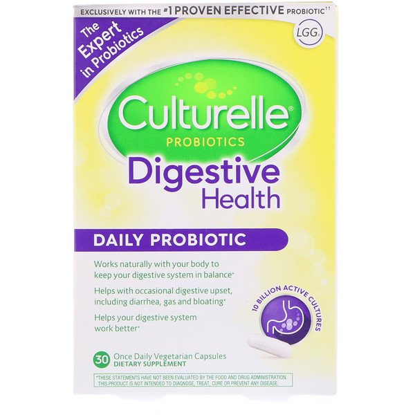 Digestive Health, Daily Probiotic, 30 Once Daily Vegetarian Capsules