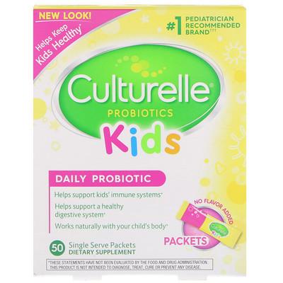 Купить Для детей, пробиотик для ежедневного применения, без вкусовых добавок, 50порционных пакетиков