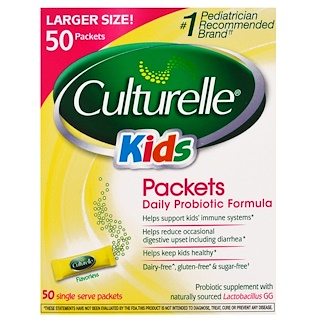 Culturelle, Kids, Packets, Daily Probiotic Formula, 50 Single Serve Packets