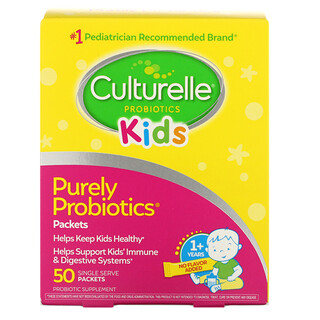 Culturelle, Kids, Purely Probiotics,  1+ Years, Unflavored, 50 Single Serve Packets