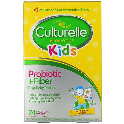 Culturelle Kids, Probiotic + Fiber, Regularity, 1+ Years, 24 Single Serve Packets