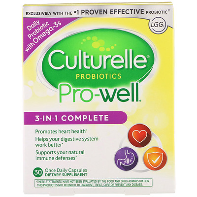 Probiotics, Pro-Well, 3-in-1 Complete, 30 Once Daily Capsules тонометр b well med 57