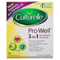 Pro-Well, пробиотик 3-в-1, плюс Омега-3, 30 капсул, по одной в день - фото