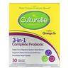 Culturelle, Probiotics, 3-in-1 Complete Probiotic with Omega 3s, 30 Once Daily Capsules