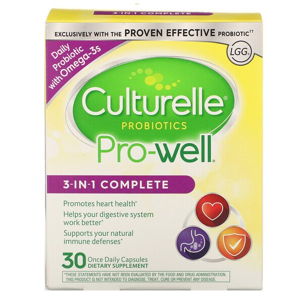 Probiotics, Pro-Well, 3-In-1 Complete, 30 Once Daily Capsules