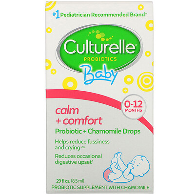 Купить Culturelle Пробиотики, для детей, «Спокойствие и комфорт», пробиотики+ромашка в виде капель, от рождения до 12 месяцев, 8, 5мл, (0, 29жидк.унции)
