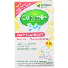 Culturelle, Probiotics, Baby, Calm + Comfort, Probiotic + Chamomile Drops, 0-12 Months, .29 fl oz (8.5 ml)