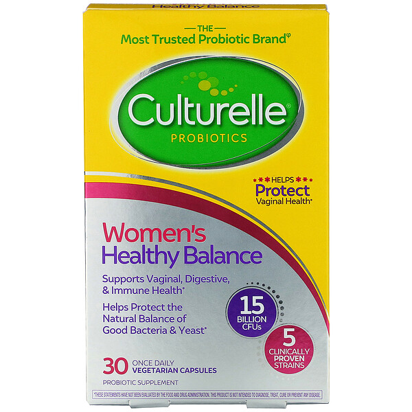 Probiotics, Women's Healthy Balance, 30 Once Daily Vegetarian Capsules