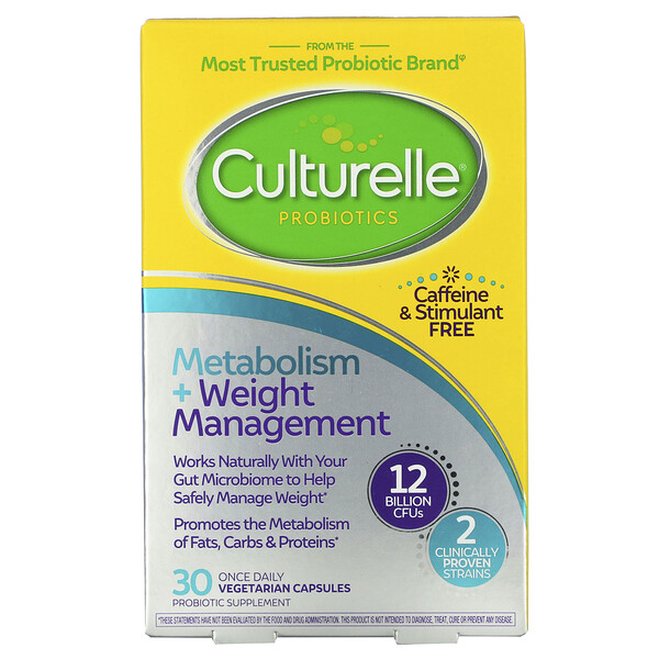 Probiotics, Metabolism + Weight Management, 12 Billion CFU, 30 Vegetarian Capsules