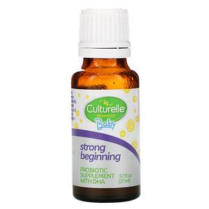 Culturelle, Baby Probiotic + DHA Drops, 0-24 Months, .57 fl oz (17 ml)'