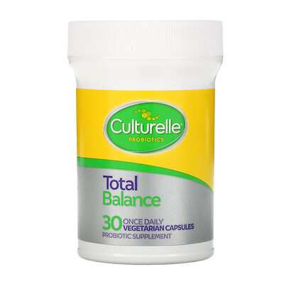 Купить Culturelle Probiotics, Total Balance, 11 Billion CFU, 30 Vegetarian Capsules