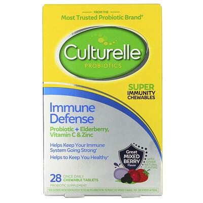 Culturelle Probiotics, Immune Defense, Mixed Berry Flavor, 28 Chewable Tablets