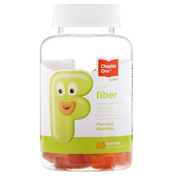 F Is For Fiber, Flavored Gummies, 60 Gummies