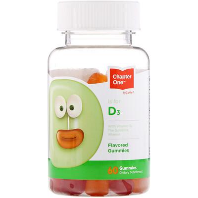 Купить Chapter One Vitamin D3, Flavored Gummies, 60 Gummies