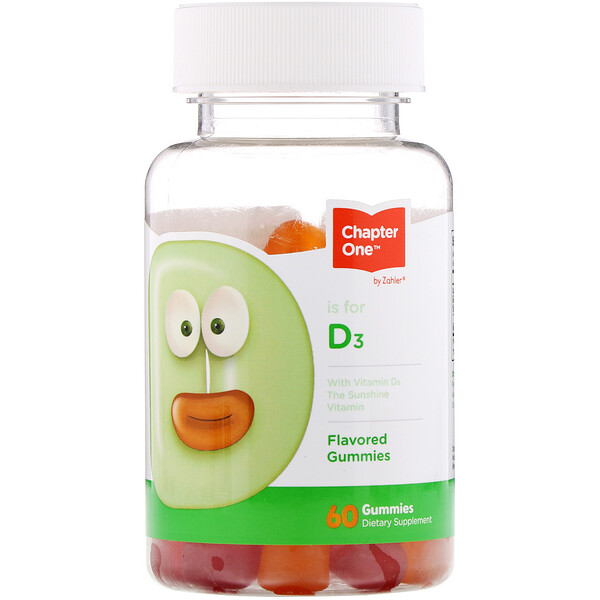 Vitamin D3, Flavored Gummies, 60 Gummies